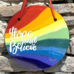Rainbow Hanging Discs