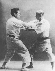 Jigoro Kano and Kyuzo Mifune