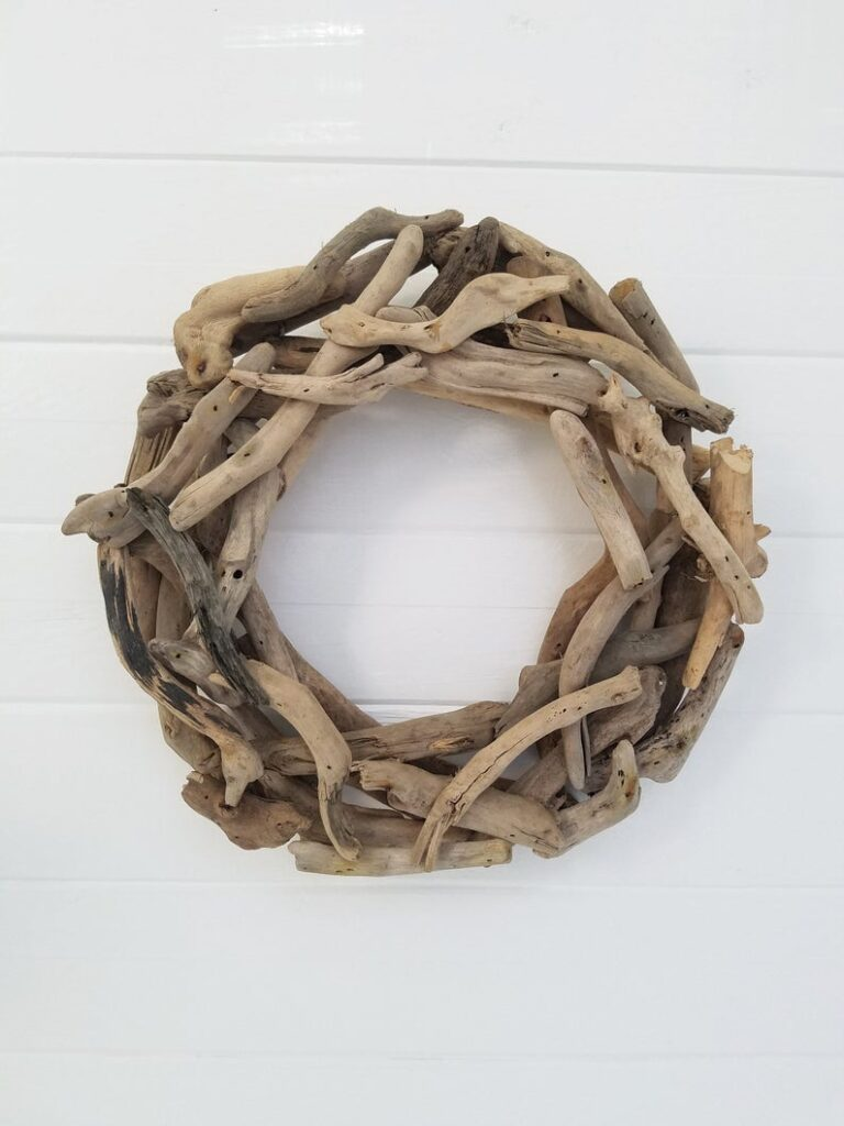 Beach summer wreath for front door decor