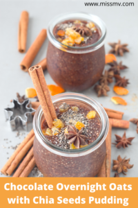 Chocolate Overnight Oats with Chia Seeds Pudding