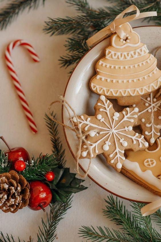 Christmas tree cookies iphone wallpaper