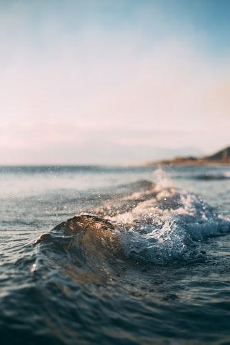 Chromatic sea wave HD wallpaper background