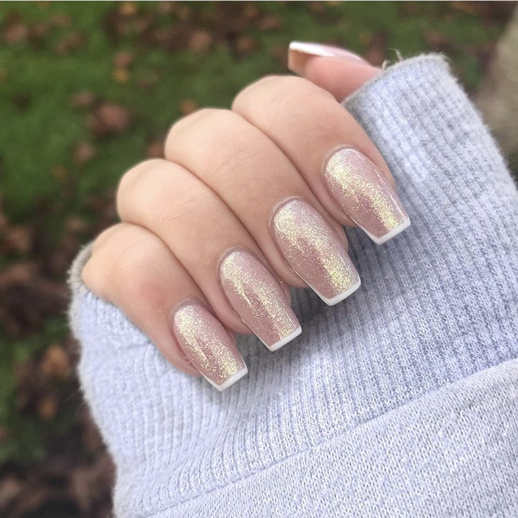 Classy long French nails