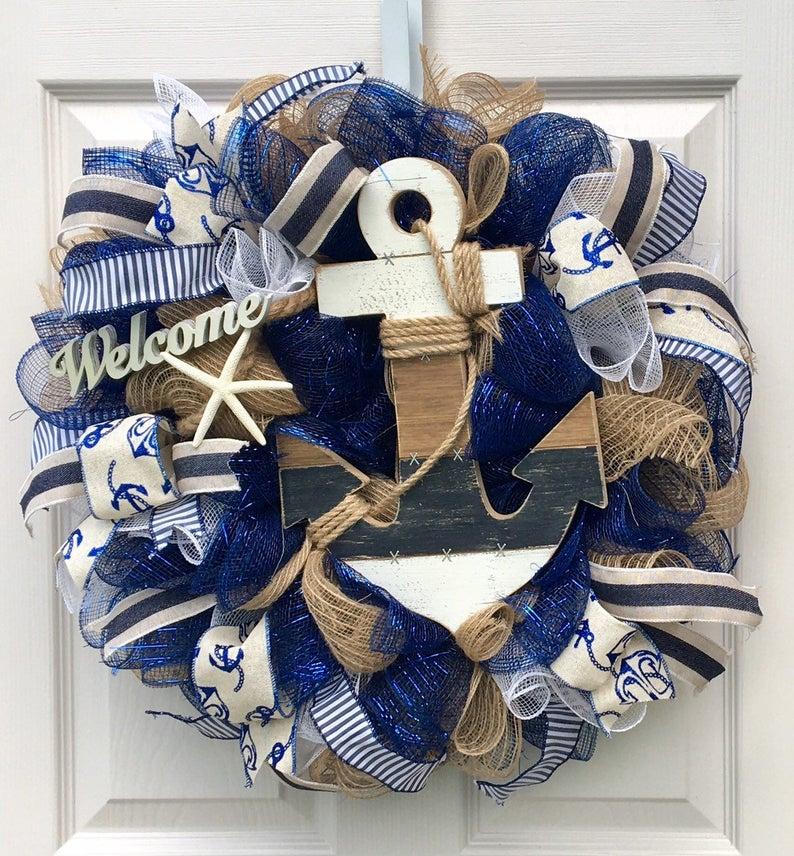 Coastal wreath for front door