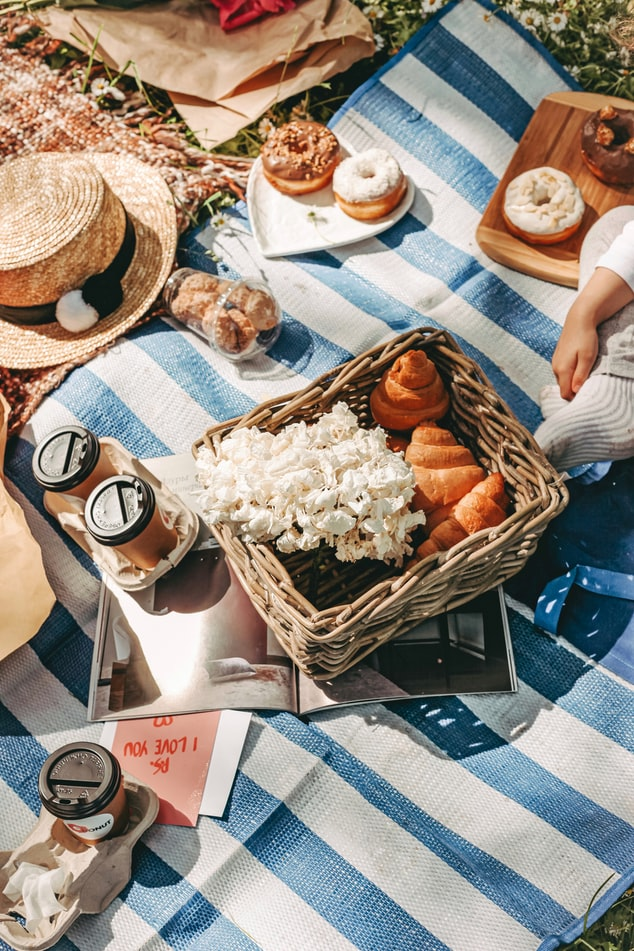 Coffee and doughnuts is another option to create amazing Instagram picnic content