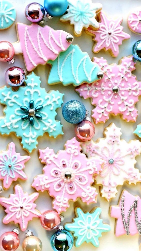 Colourful cookie stars iPhone wallpaper