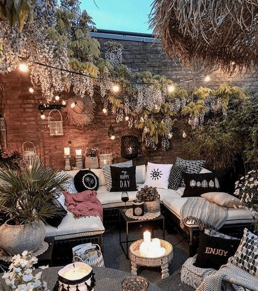 Cozy outdoor living space that will make you feel like you are in holiday