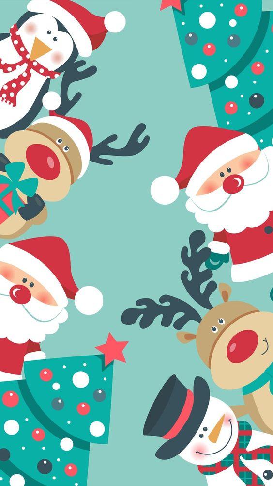 Cute Santa wallpaper for iPhone. Cute Santa wallpaper aesthetics for iPhone.