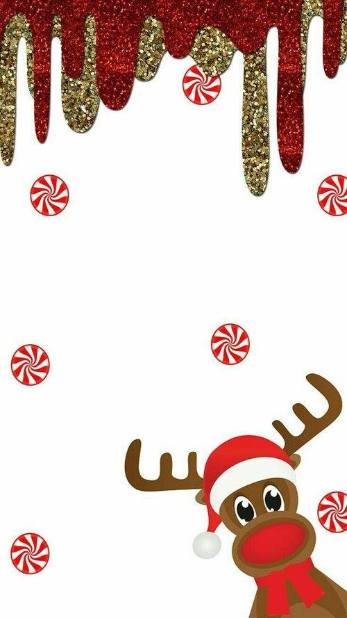 Cute reindeer Christmas wallpaper for iPhone. Christmas wallpapers for iPhone - free to download