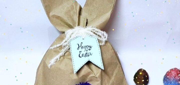 DIY Easter bunny treats bag step by step tutorial