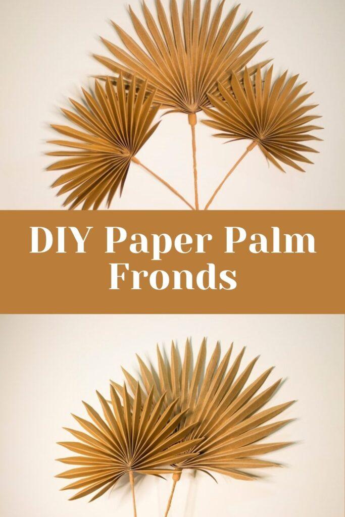 DIY Paper Palm Fronds