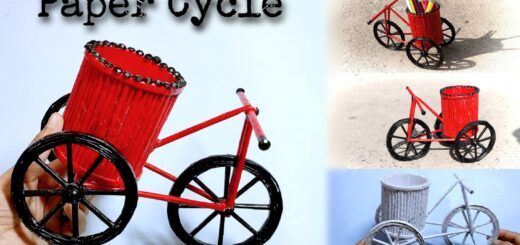 DIY Paper bicycle step by step with pictures
