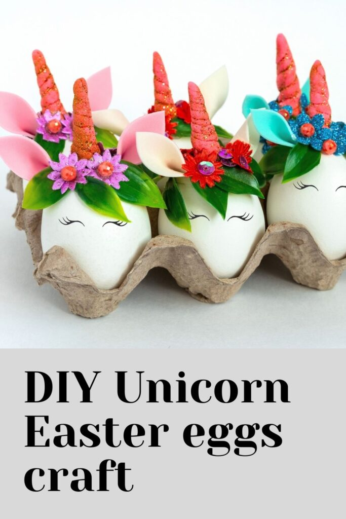 DIY Unicorn Easter eggs craft