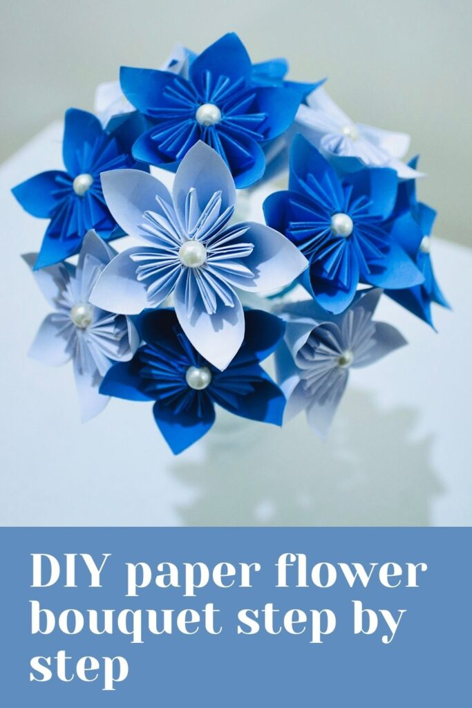 DIY paper flower bouquet step by step