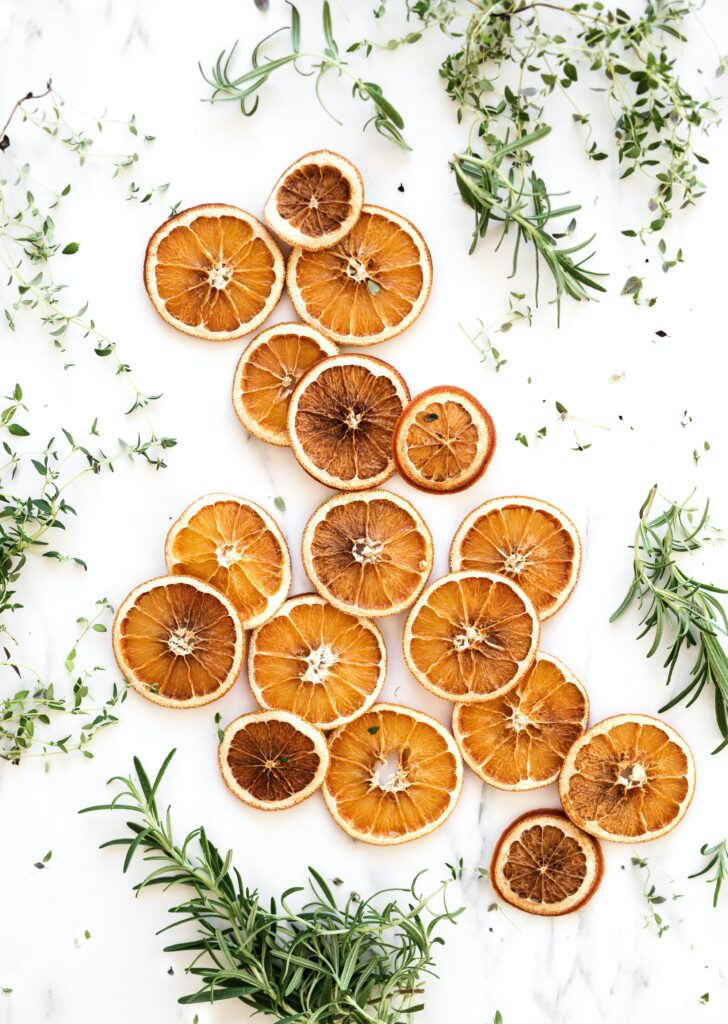 Dried oranges and herbs HD Christmas wallpaper for iPhone