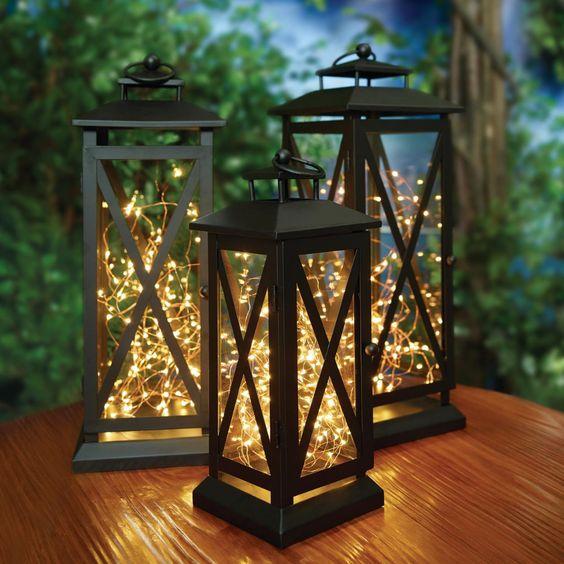 Elegant outdoor fairy lights for porch