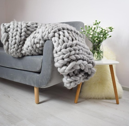 Fluffy blanket for sofa