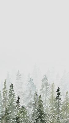 Frosted forest Christmas wallpaper free to download for your smartphone