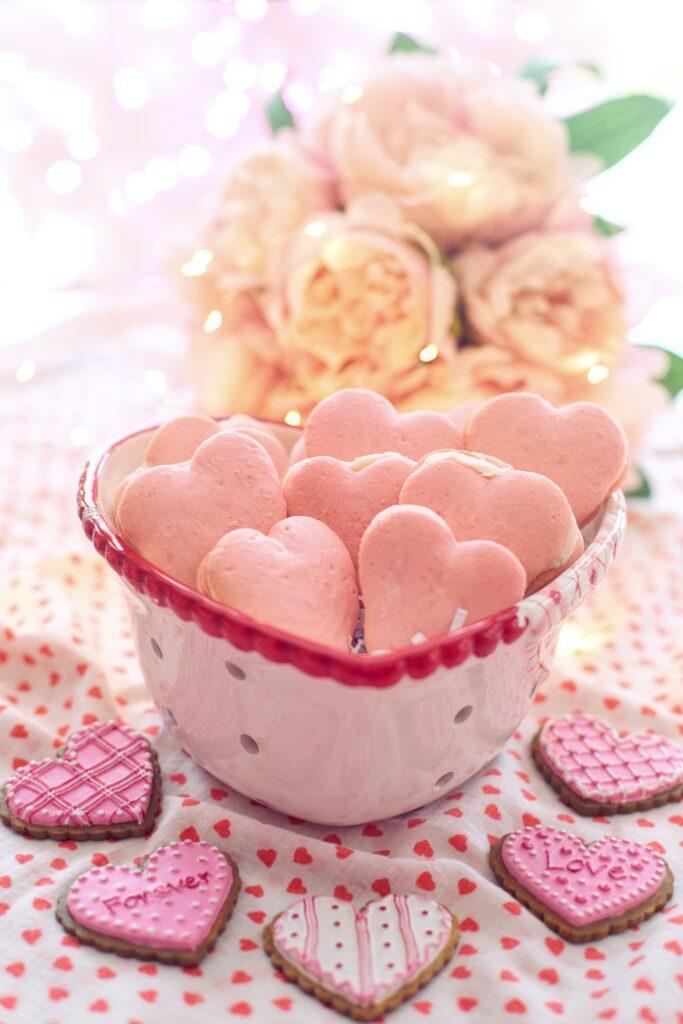 Heart shape macarons wallpaper