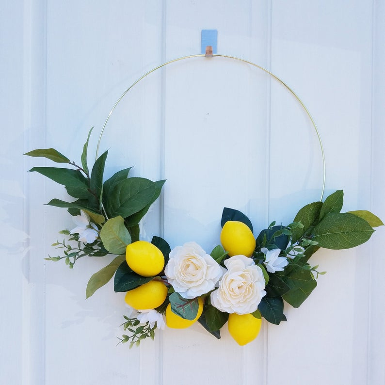 Lemon hoop wreath