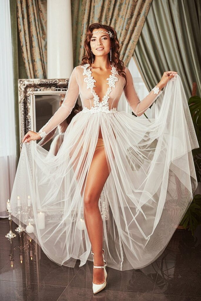 Long lace beach cover up dress