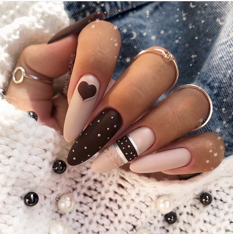 Long pretty nails design