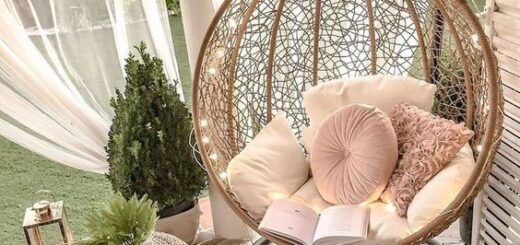Hanging chairs for a cosy and relaxing décor