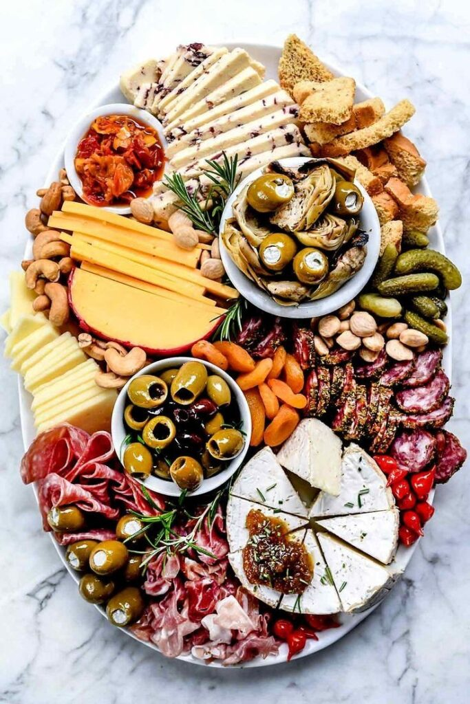 Mediterranean charcuterie board inspiration for Christmas