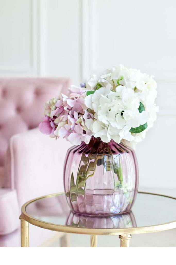 Mix of colourful artificial hydrangea bouquet