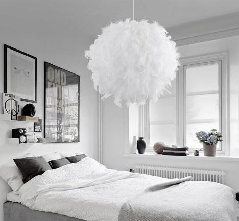 Modern elegant bedroom decor