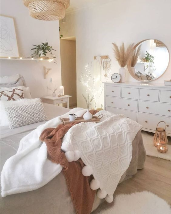 Norwegian style bedroom decor