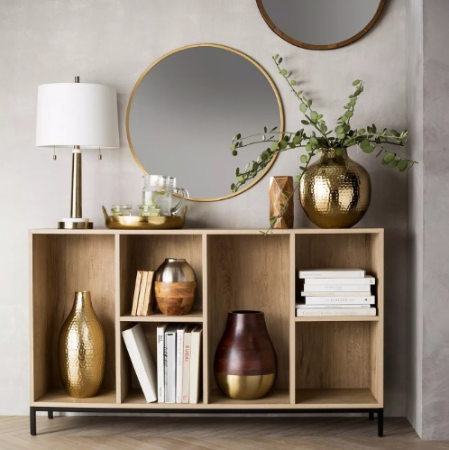 Oak furniture for living room to keep everything organized