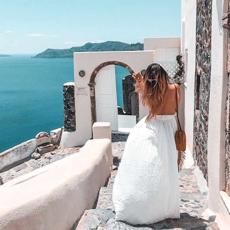 Open back beach dress