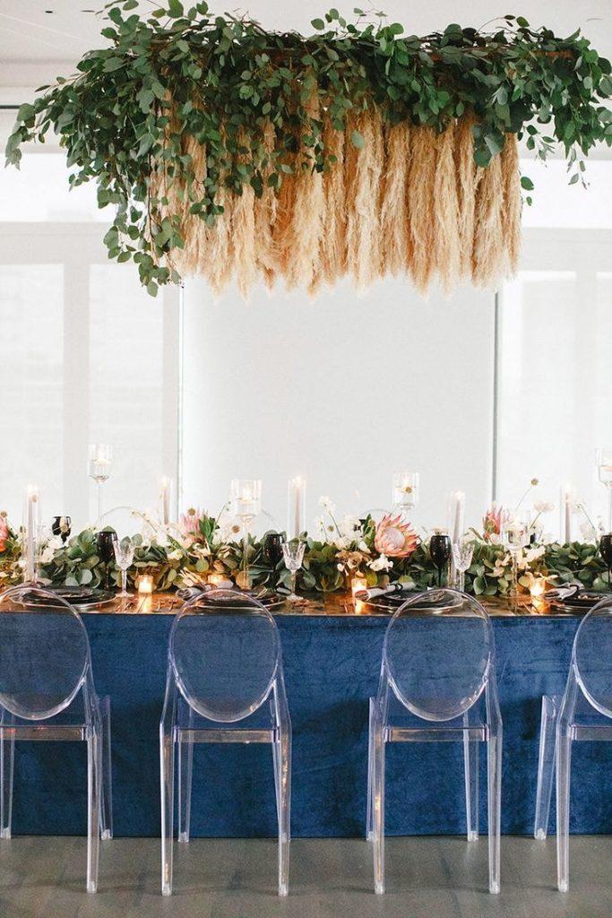 Pampas grass for wedding décor. Artificial pampas grass decor