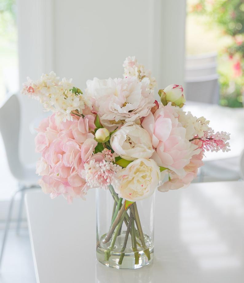 Peony flower arrangement Centerpiece