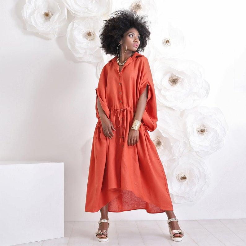 Plus size Linen Robe