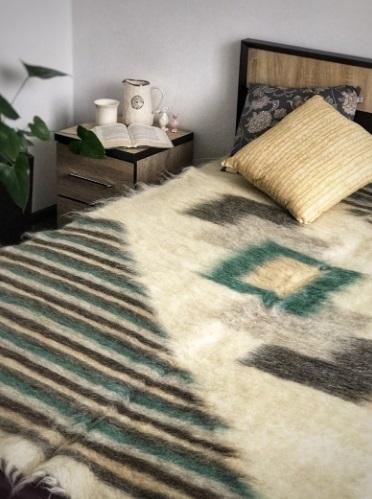 Pure Wool Blanket Wool Throw Natural Sheep Wool Warm Blanket Wool Plaid Woolen Blanket Living Area Rug
