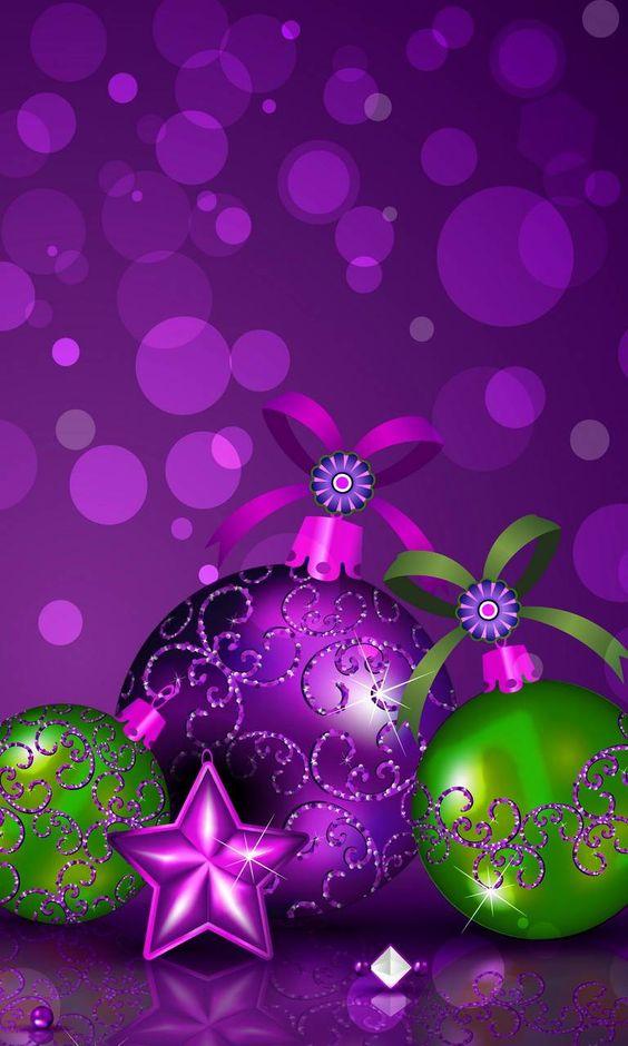 Purple Christmas tree bulb wallpaper
