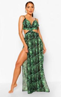 Rainforest Cut Out Maxi Beach Dress