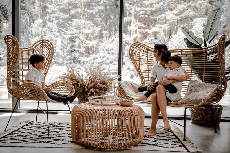 Best garden furniture. Rattan chairs and coffee table set for indoor and outdoor
