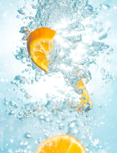 Refreshing water and lemon aesthetic image for smartphone background