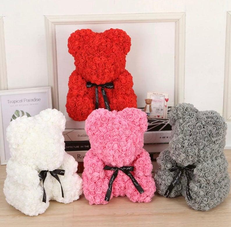 Rose teddy bear gift for mum