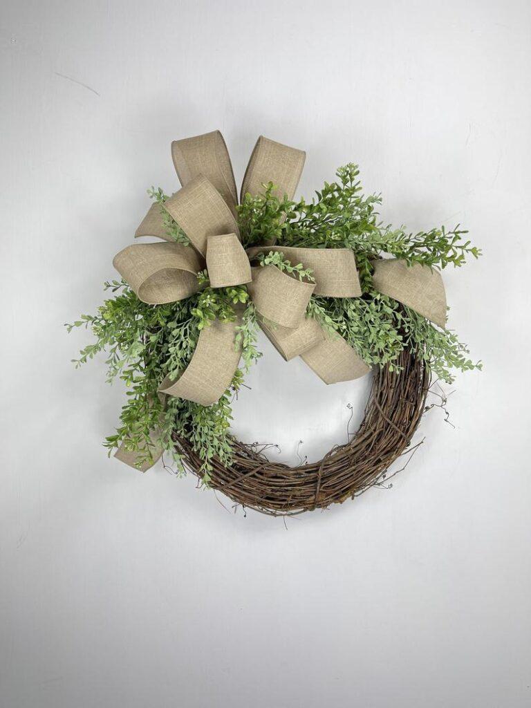 Rustic wreath for front door