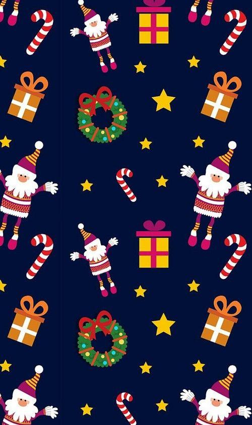 Santa joy and gifts  Christmas wallpaper