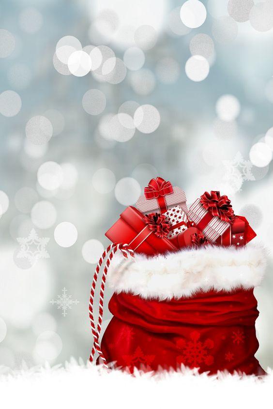 Santa's gift sack iPhone wallpaper