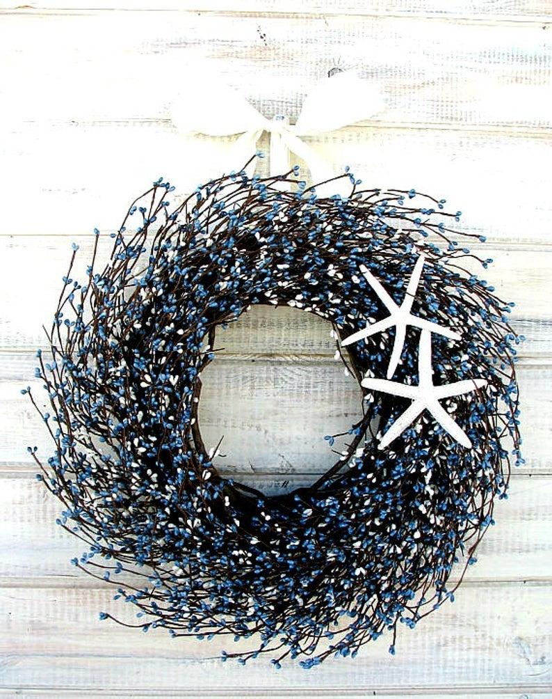 Seashore wreath for front door