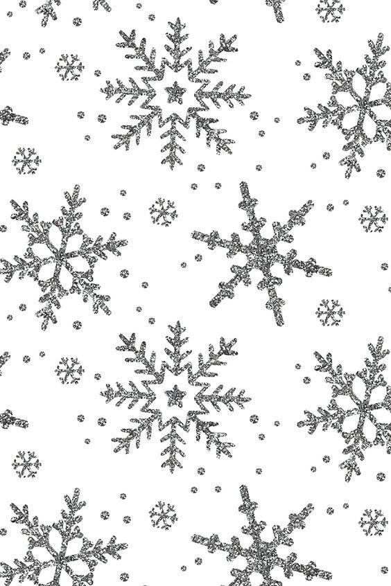 Silver snowflake stars wallpaper