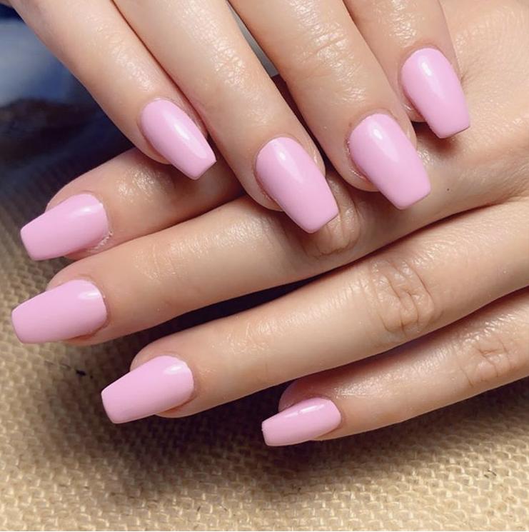 Simple medium length winter nails