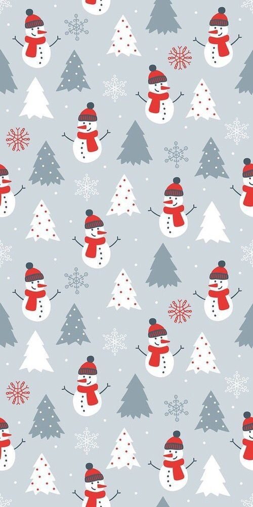 Snowman HD Christmas wallpaper for iPhone background