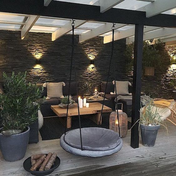 Spanish Mediterranean outdoor living space